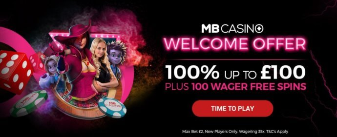 MB Casino Welcome offer