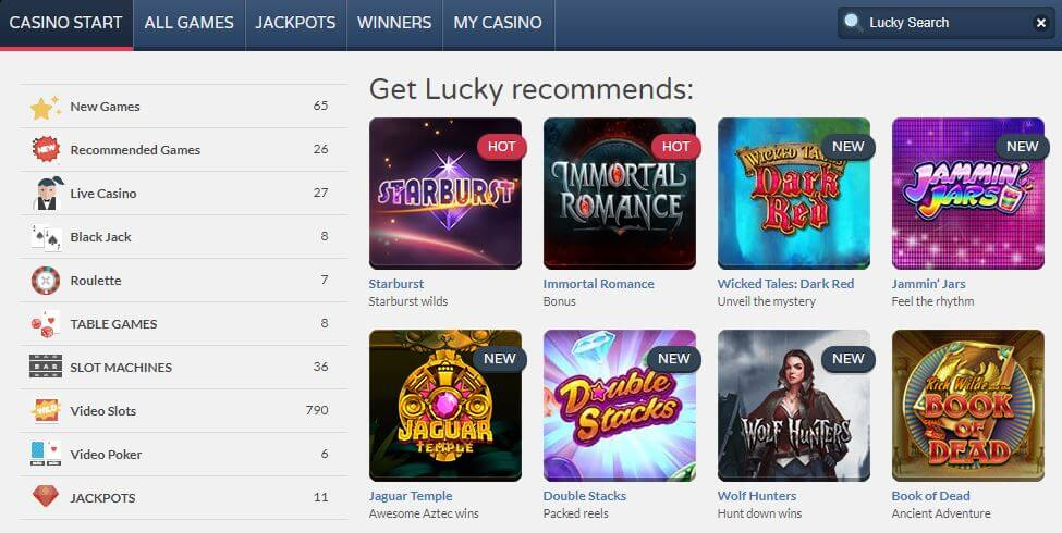 get lucky casino voucher code