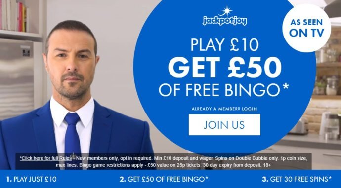 Jackpotjoy Promo Code: Play £10, Get up to £50 | July 2019