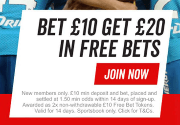 Virgin Bet Bonus for New Customers | £20 in Free Bets