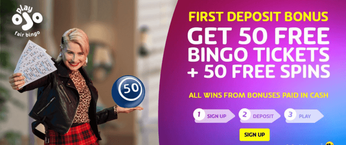 PlayOJO bingo offer