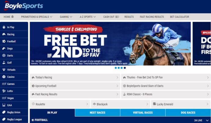 BoyleSports Betting Markets