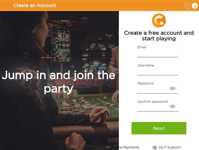 Casino.com Registration