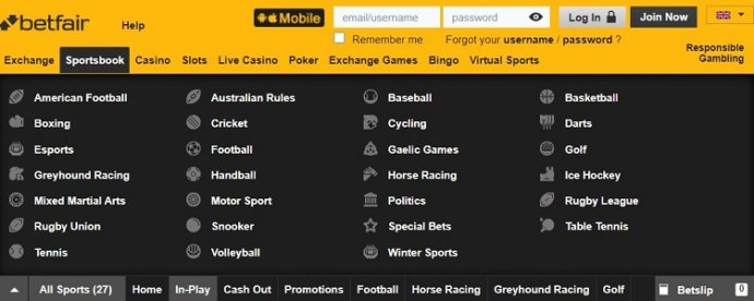 Betfair Sports Betting Markets