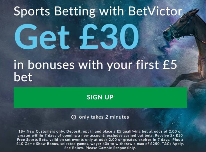 BetVictor promo code offer