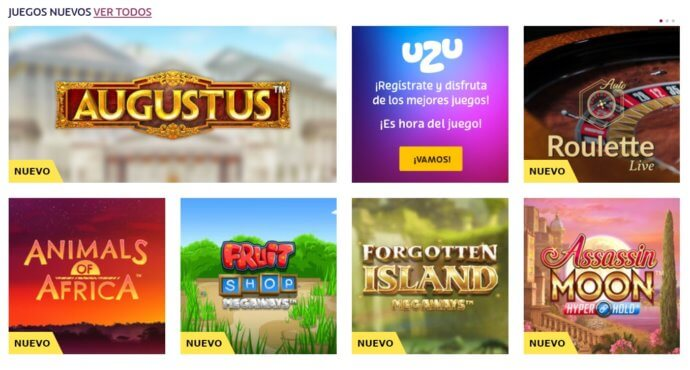 PlayUZU Casino Juegos Disponibles